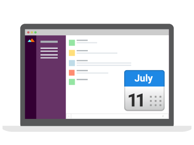 Create events in Slack